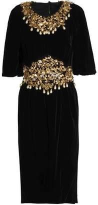 Dolce & Gabbana Embellished Chenille Dress