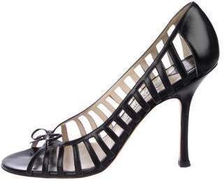 Jimmy Choo Leather High Heel Sandals