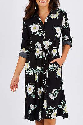 Sass NEW Womens Knee Length Dresses Endless Love Midi Dress Print