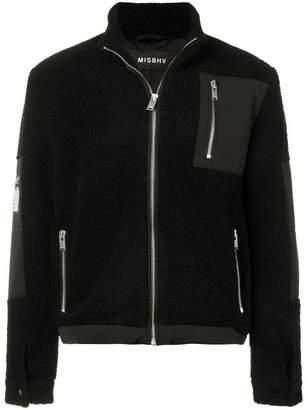 Misbhv zipped shearling jacket
