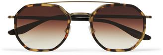 Themis Aviator-Style Tortoiseshell Acetate Sunglasses