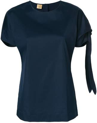 Fay tied sleeve T-shirt