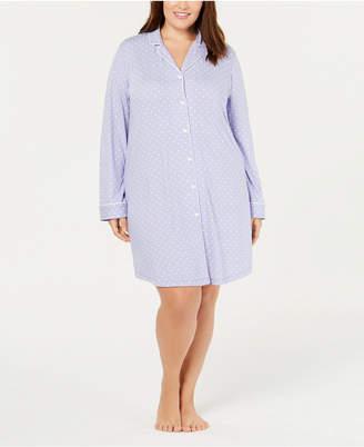 Charter Club Plus Size Printed Sleepshirt