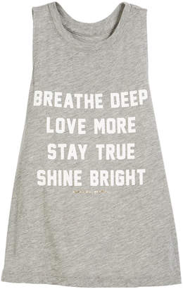 Spiritual Gangster Breathe Deep Inspirational Muscle Tank, Size 6-14