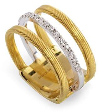 Marco Bicego 18K Yellow & White Gold Goa Ring with Diamonds