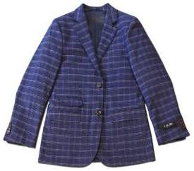 Ike Behar IKE by Little Boy's Plaid Button-Front Blazer
