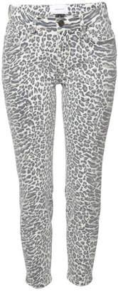 Current/Elliott The Stiletto Cropped High Waist Skinny Jeans