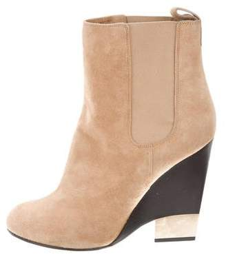 Givenchy Suede Wedge Ankle Boots