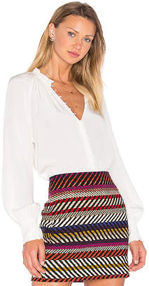 Trina Turk Spontaneous Blouse in White $278 thestylecure.com