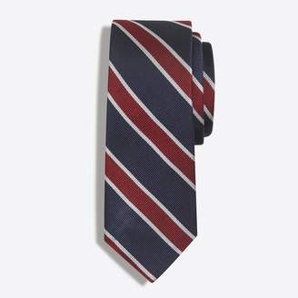 J.Crew Factory Silk rugby-striped tie