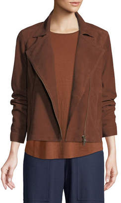 Eileen Fisher Soft Suede Moto Jacket
