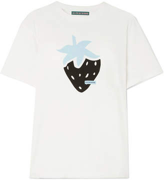 ALEXACHUNG Printed Cotton-jersey T-shirt - Off-white