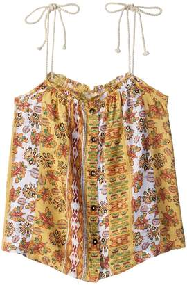 Roxy Kids Depths of My Heart Printed Strappy Top Girl's Sleeveless
