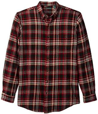 Bass Men's Big and Tall Fireside Flannel Plaid Long Sleeve Shirt