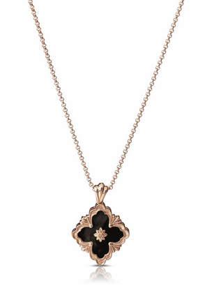Buccellati Opera 18k Rose Gold Pendant Necklace in Onyx