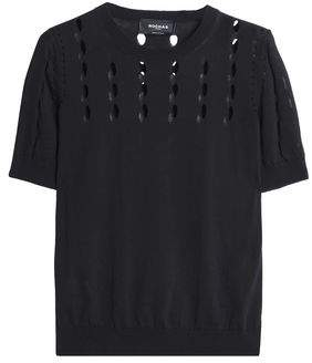 Rochas Laser-Cut Cotton Top
