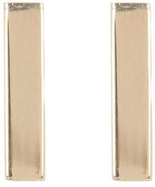 KARAT RUSH 14K Yellow Gold Shiny Bar Tube Earrings