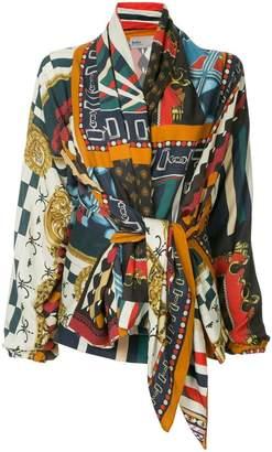 Kolor draped neck scarf blouse