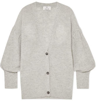 Allude Wool And Cashmere-blend Cardigan - Gray