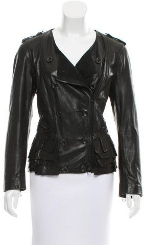 3.1 Phillip Lim 3.1 Phillip Lim Collarless Leather Jacket
