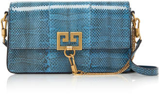 Givenchy Snake-Effect Leather Shoulder Bag