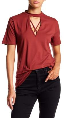 Socialite Short Sleeves Cross Front Top