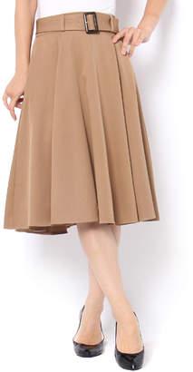 And Couture (アンド クチュール) - アンドクチュール ツイルベルト付きフレアスカート