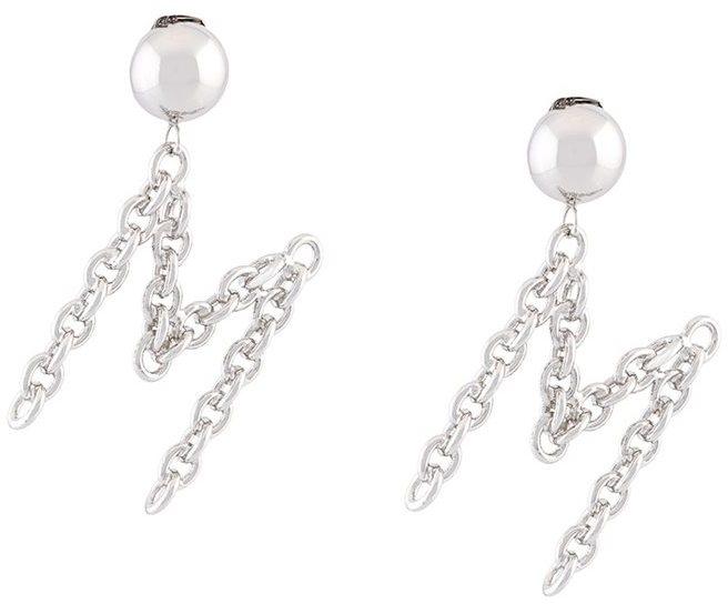 MoschinoMoschino M clip on earrings