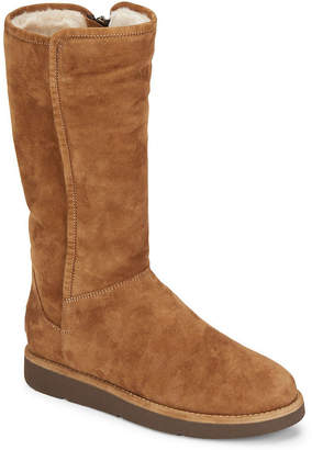 UGG Abree Shearling-Lined Tall Suede Boot