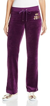 Juicy Couture Black Label Women's Logo Jc Laurel Vlr Bootcut Pant $137.91 thestylecure.com
