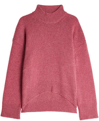 Brock Collection High-Low Cashmere Pullover with Turtleneck