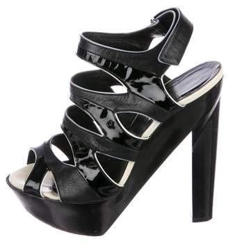 Pierre Hardy Patent Leather Platform Sandals