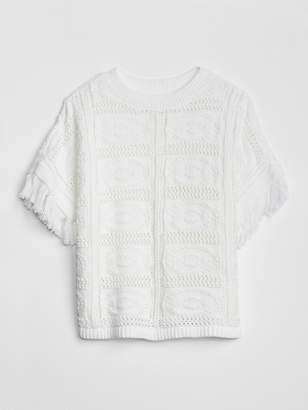 Gap Crochet Fringe Sweater