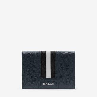Bally Tards Black, Men's bovine leather card holder in black