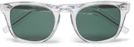 cutler and gross d frame acetate sunglasses clear