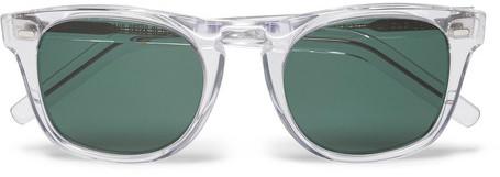 cutler and gross d frame acetate sunglasses clear
