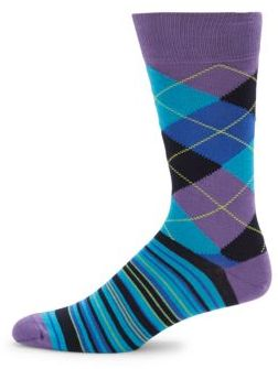 Combed Cotton Blend Mid-Calf Socks $20 thestylecure.com