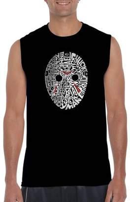 Pop Culture Los Angeles Pop Art Men's Sleeveless T-Shirt - Slasher Movie Villains