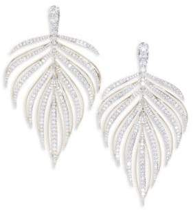 Adriana Orsini Pirouette Leaf Drop Earrings