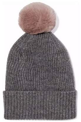 Lanvin Rabbit-Pompom Ribbed Alpaca And Wool-Blend Beanie
