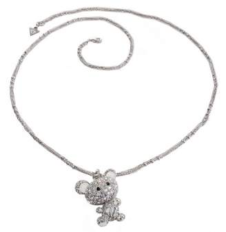 GUESS UBN11229 Women's Necklace Silver-Plated Metal and Diamanté 90 cm