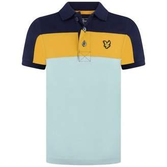 Lyle & Scott Lyle & ScottBoys Navy Yellow & Blue Striped Polo Top