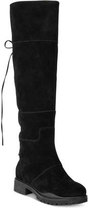 Nine West Mavira Back Lace-Up Over-The-Knee Boots $229 thestylecure.com