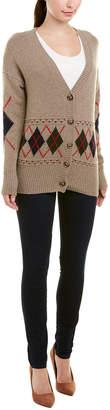 Autumn Cashmere Argyle Cashmere & Wool-Blend Grandpa Cardigan
