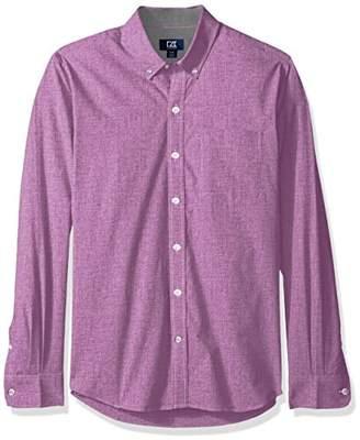 Cutter & Buck Men's Long Sleeve Non-Iron Heather Button Down Collared Shirt