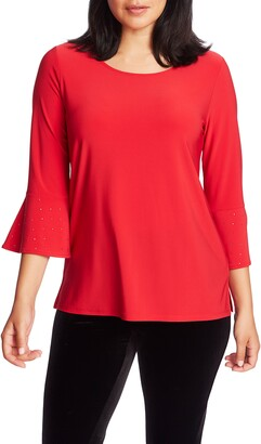 Chaus Embellished Bell Sleeve Top