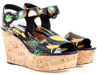 Dolce & Gabbana Cork wedge sandals