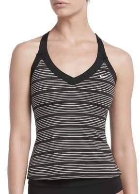 Nike Swim Striped V-Neck Tankini