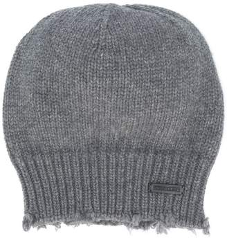 DSQUARED2 distressed knit beanie