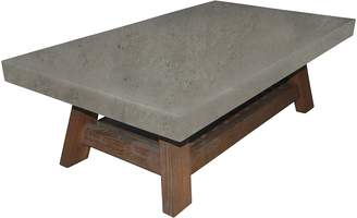 Dover Mason Coffee Tables Bayview Coffee Table with Magazine Rack, Concrete LP2
